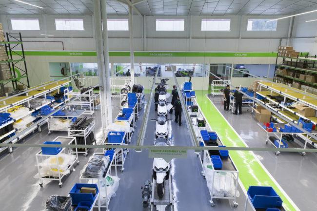 Nueva fábrica de motos eléctricas y baterías