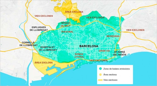 Barcelona cierra el tráfico a los vehículos contaminantes 7