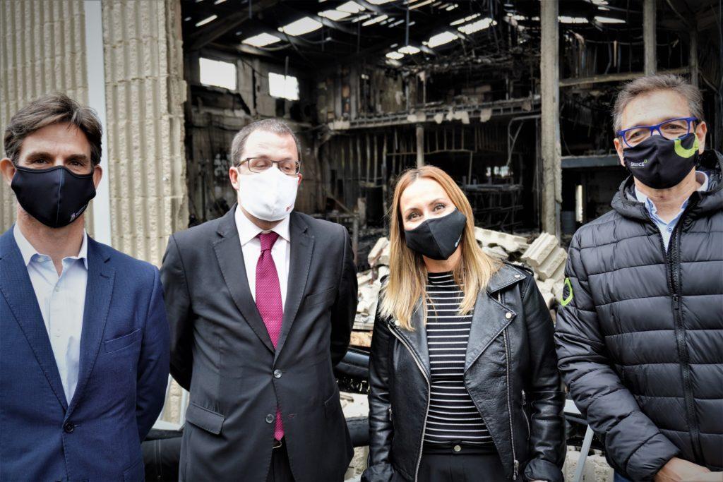 Raül Blanco, Secretario General de Industria, ha visitado la planta incendiada de Silence en Molins de Rei 2