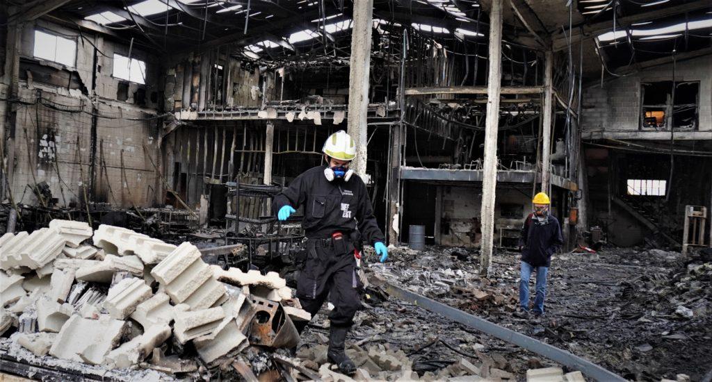 Raül Blanco, Secretario General de Industria, ha visitado la planta incendiada de Silence en Molins de Rei 3